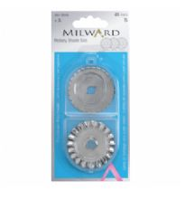 Pack of 3 Pinking Skip and Wave Blades for Milward 45mm Rotary Cutter